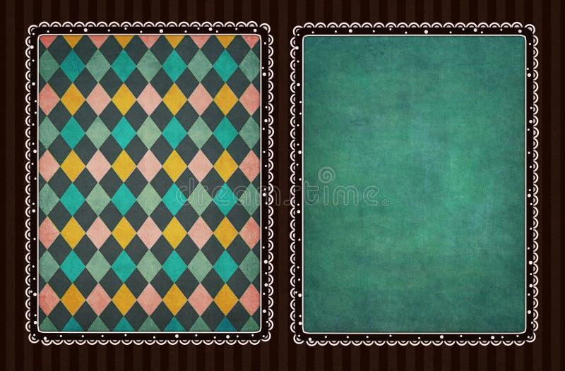 Deux côtés de carte illustration de vecteur