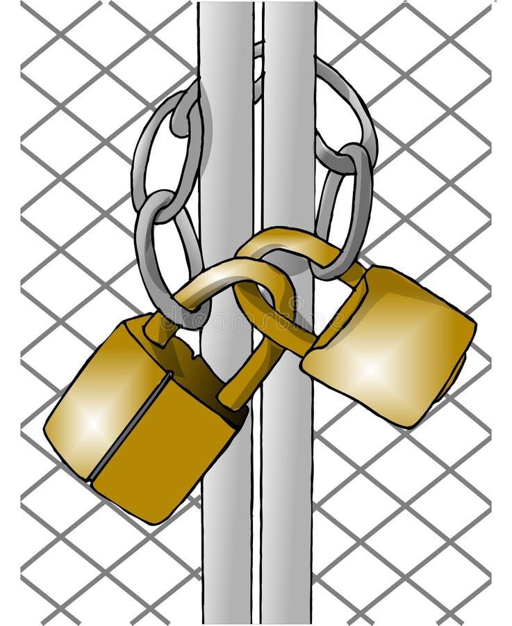 Deux cadenas illustration de vecteur