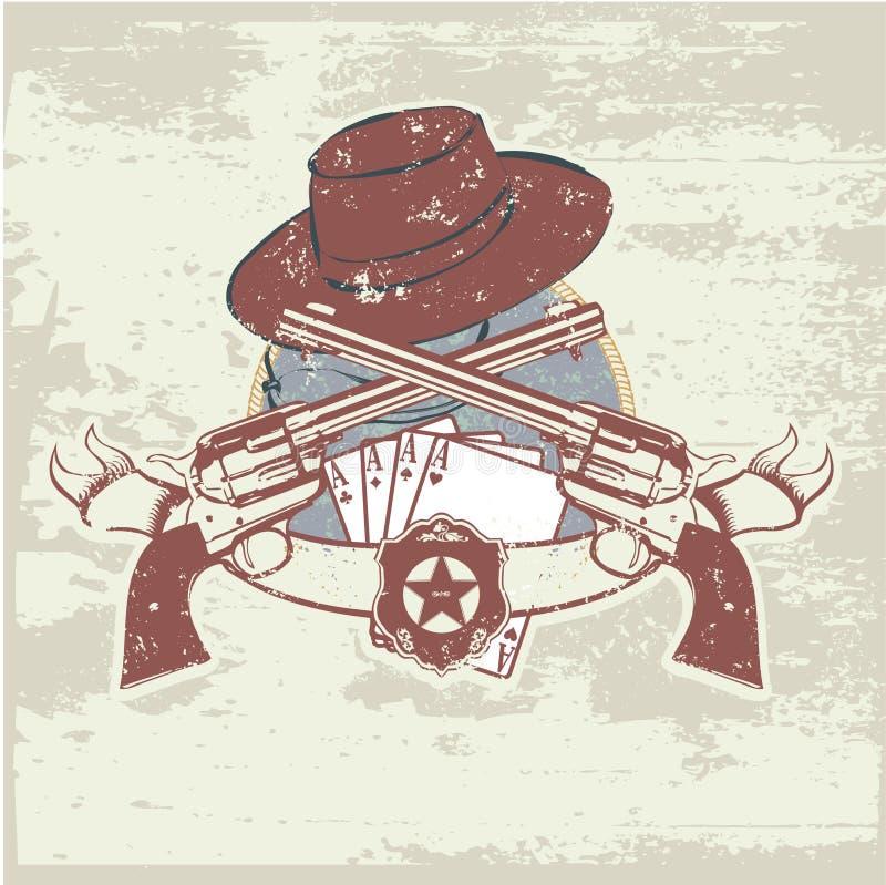 Deux canons et chapeaux illustration de vecteur