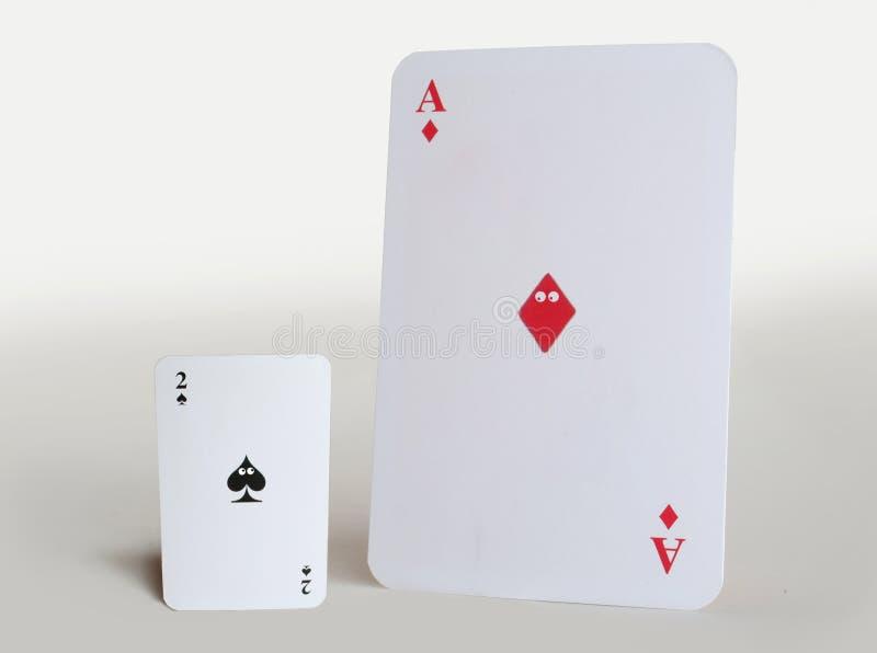 Deux cartes avec des yeux image stock