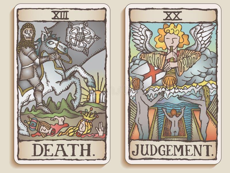 Deux cartes de Tarot v.9 illustration libre de droits