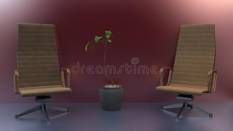 Deux chaises photo stock