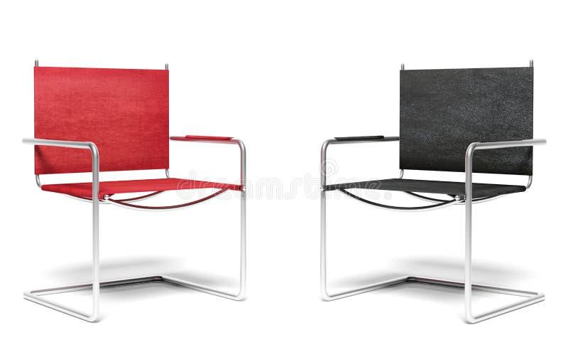 Deux chaises de bureau image libre de droits