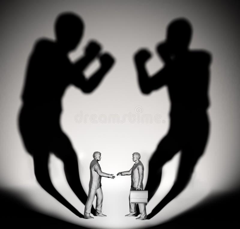 Deux chasseurs d'homme d'affaires illustration libre de droits