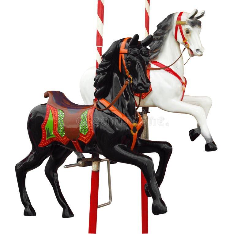 Deux chevaux de manège image stock