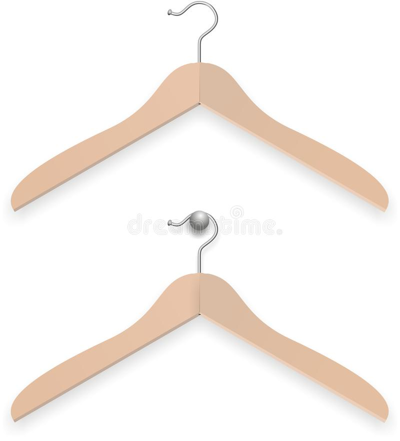 Deux cintres en bois illustration libre de droits