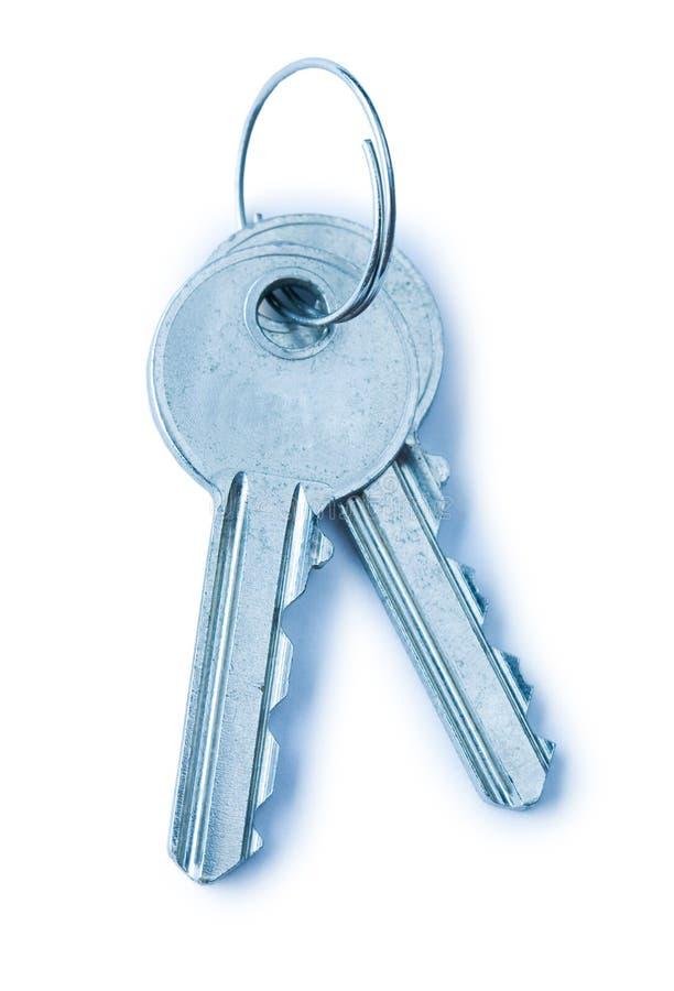 Deux clés bleues images libres de droits