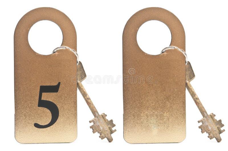 Deux clés d'hôtel photographie stock libre de droits