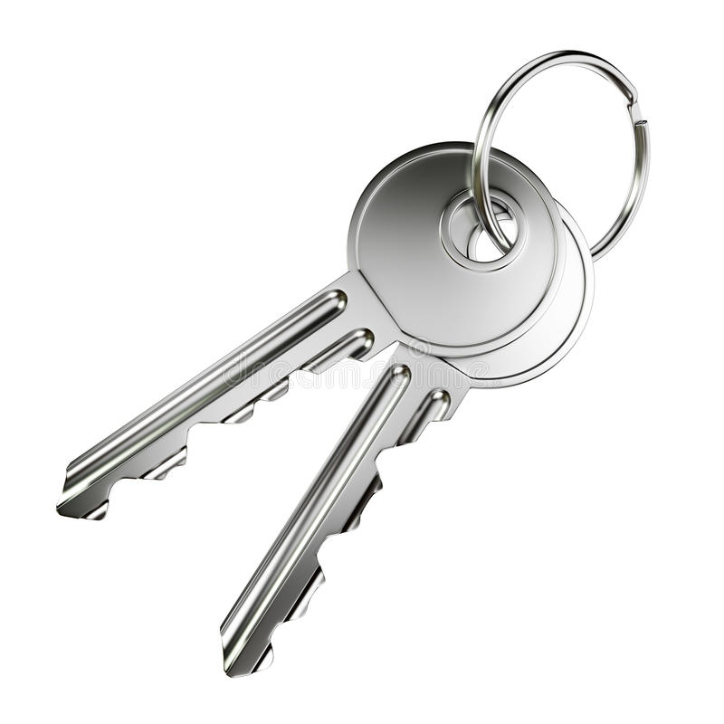 Deux clés de porte de nickel illustration stock