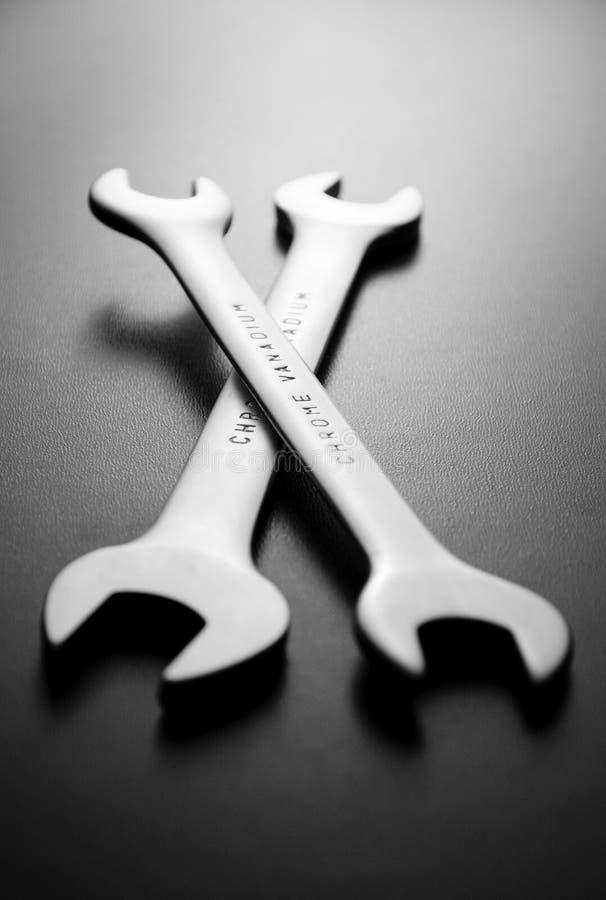 Deux clés ou clés de vanadium de chrome images stock