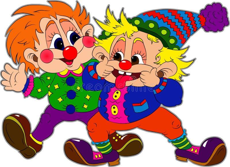 Deux clowns illustration libre de droits