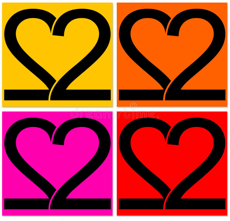 Deux coeurs illustration stock