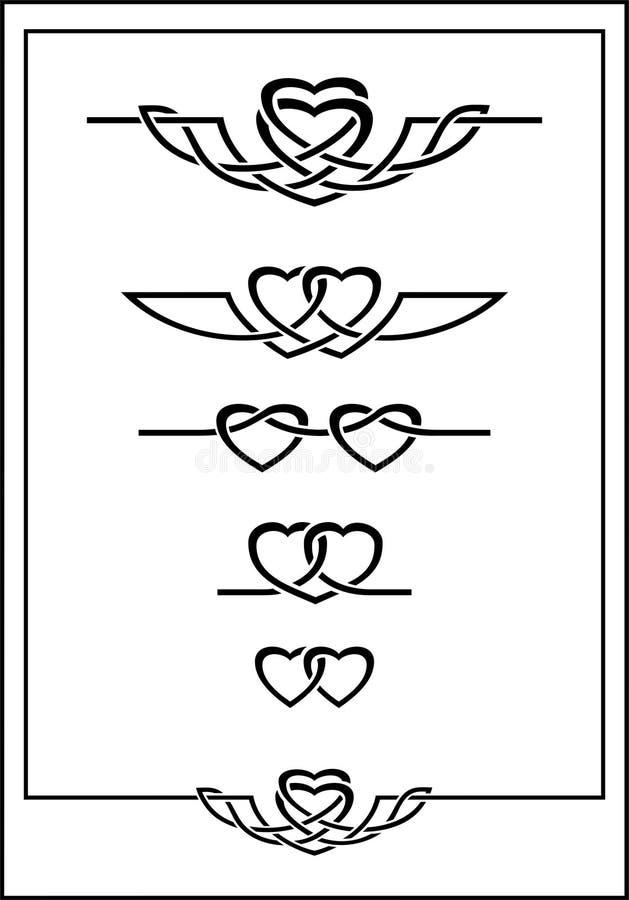 Deux coeurs illustration de vecteur