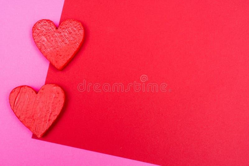 Deux coeurs rouges image libre de droits