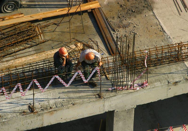 Deux constructeurs photos libres de droits