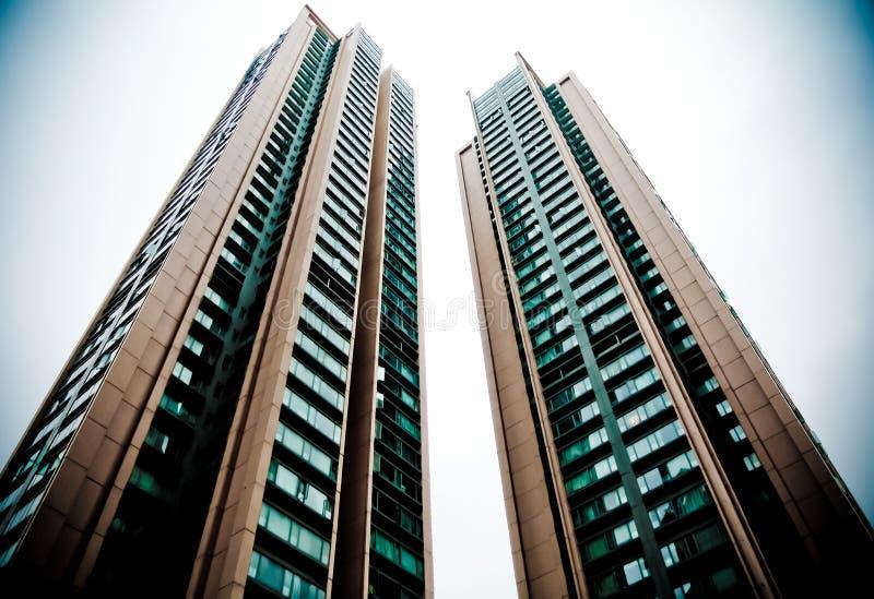 Deux constructions photo libre de droits