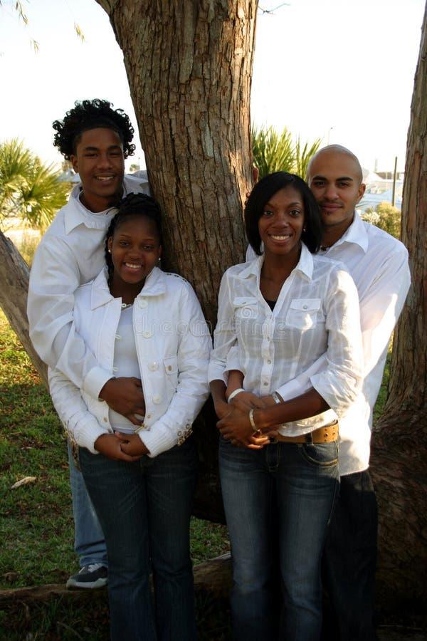 Deux couples d'afro-américain photos stock