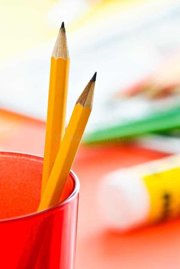 Deux crayons image libre de droits