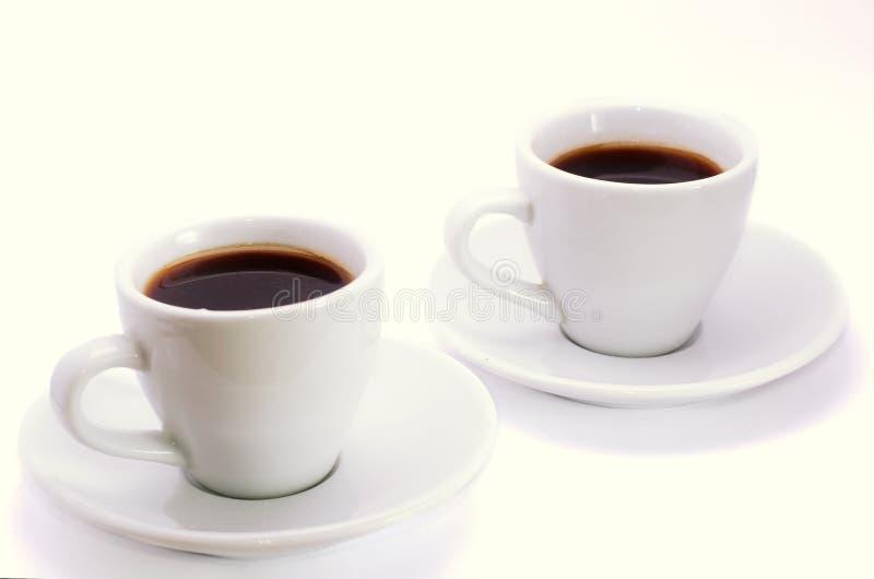Deux cuvettes de café photo stock