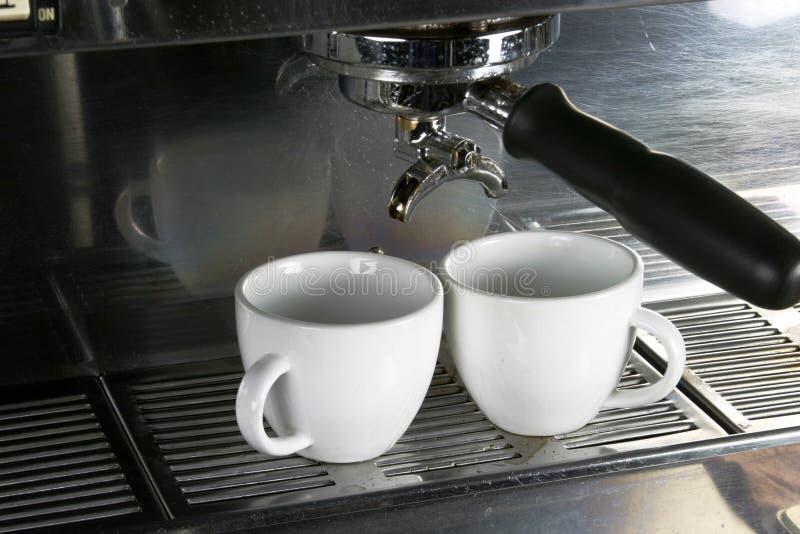 Deux cuvettes de café express images libres de droits