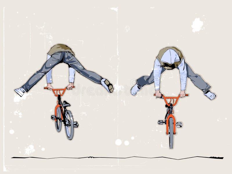 Deux cyclistes illustration libre de droits