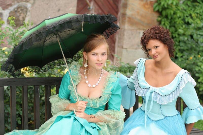 Deux dames photos stock