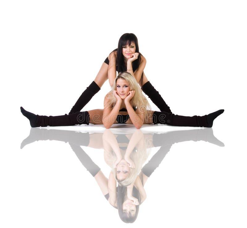 Deux danseurs de ballet moderne photographie stock