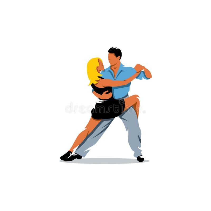 Deux danseurs de tango d'élégance Illustration de vecteur illustration libre de droits