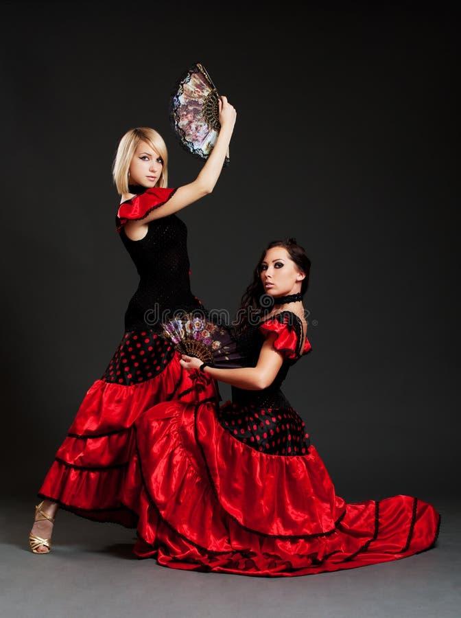 Deux danseurs espagnols sexy photos stock