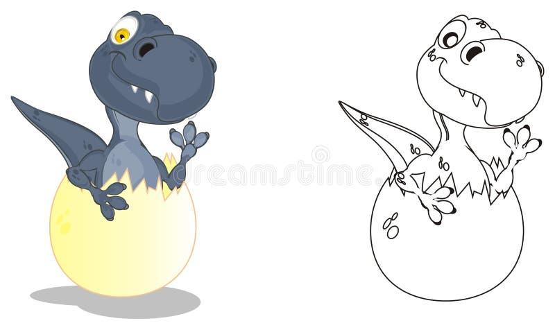 Deux dinos différents illustration stock