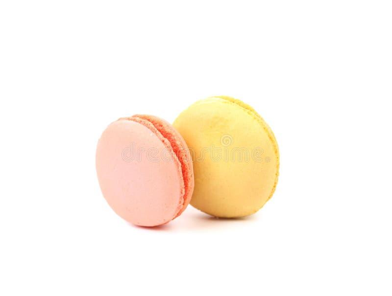Deux divers gâteaux de macaron. image libre de droits