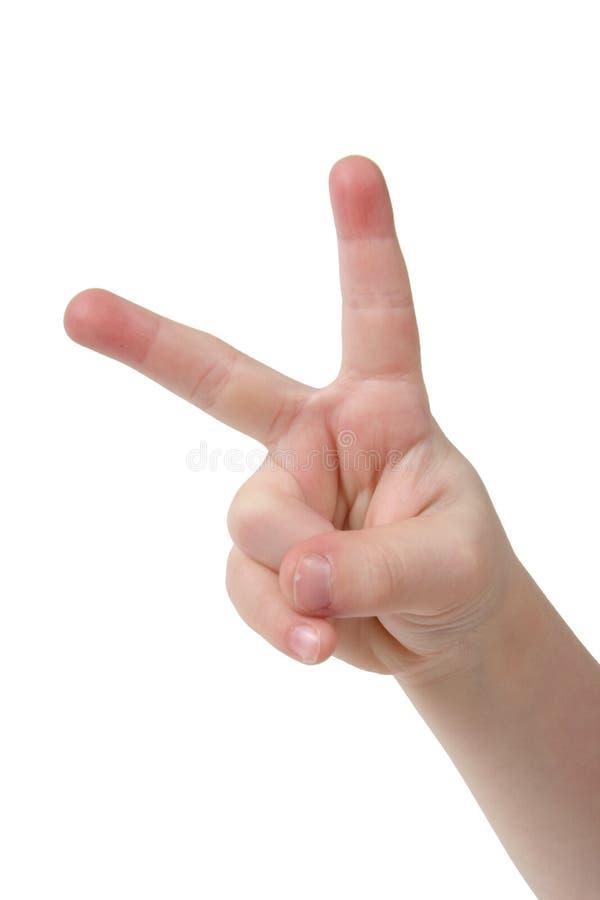 Deux doigts photos libres de droits