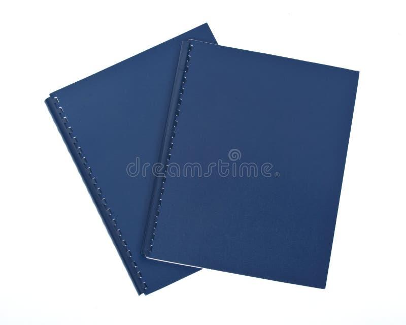 Deux dossiers bleus photo stock