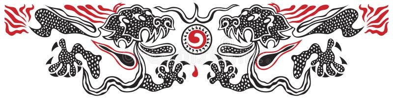 Deux dragons illustration de vecteur