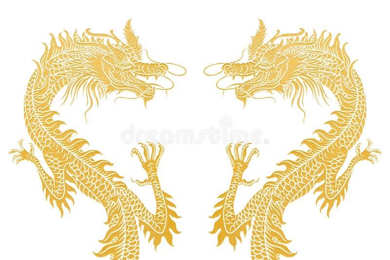 Deux dragons photo stock