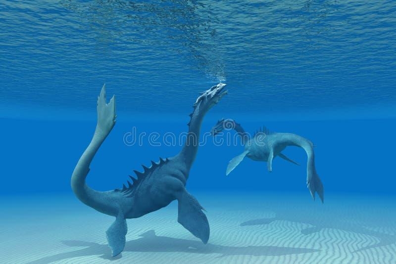 Deux dragons de mer illustration libre de droits