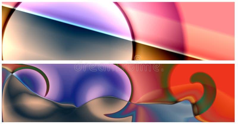 Deux drapeaux 3 de Web illustration libre de droits