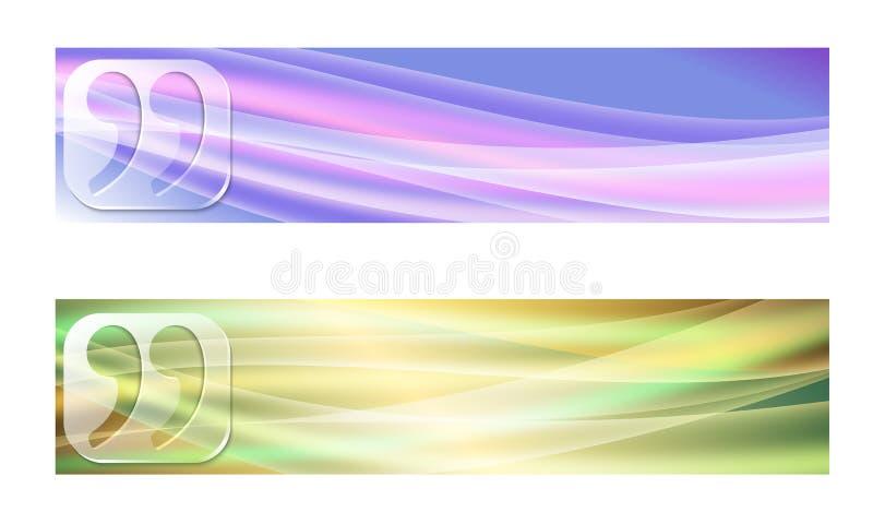 Deux drapeaux illustration stock