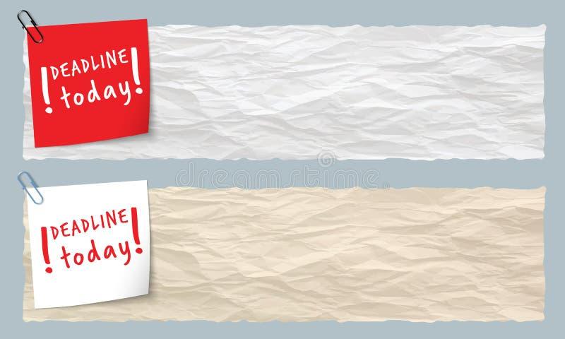 Deux drapeaux illustration de vecteur