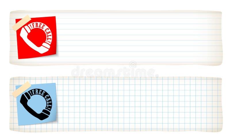 Deux drapeaux illustration libre de droits