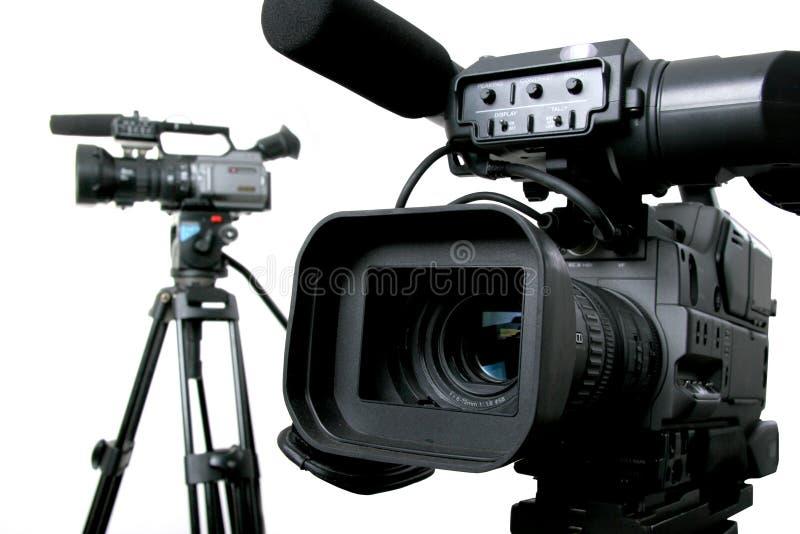 Deux dv-caméscopes photographie stock libre de droits