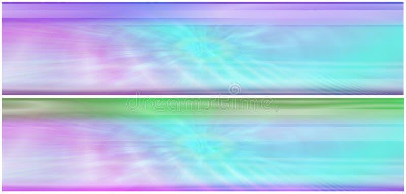 Deux en-têtes éthérés aqueux illustration de vecteur