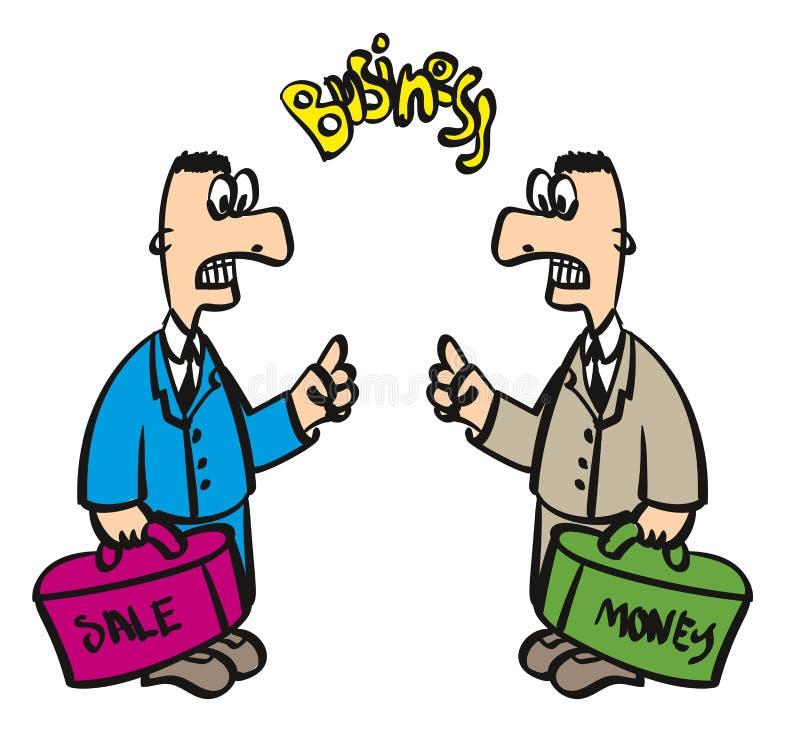 Deux ennemis ou adversaires d'hommes d'affaires illustration de vecteur