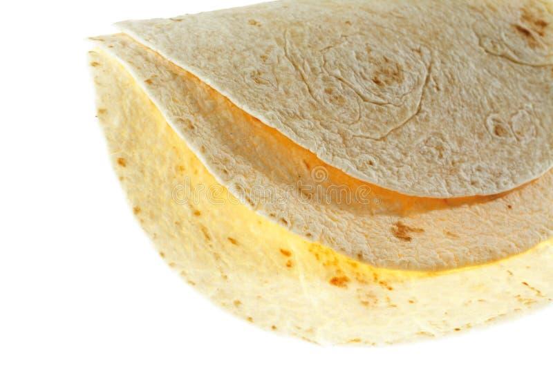 Deux enveloppes de tortilla, plan rapproché photo libre de droits