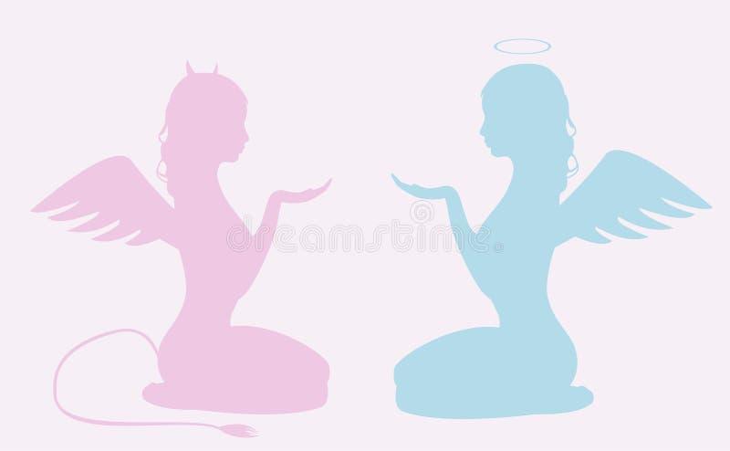 Deux fées illustration libre de droits