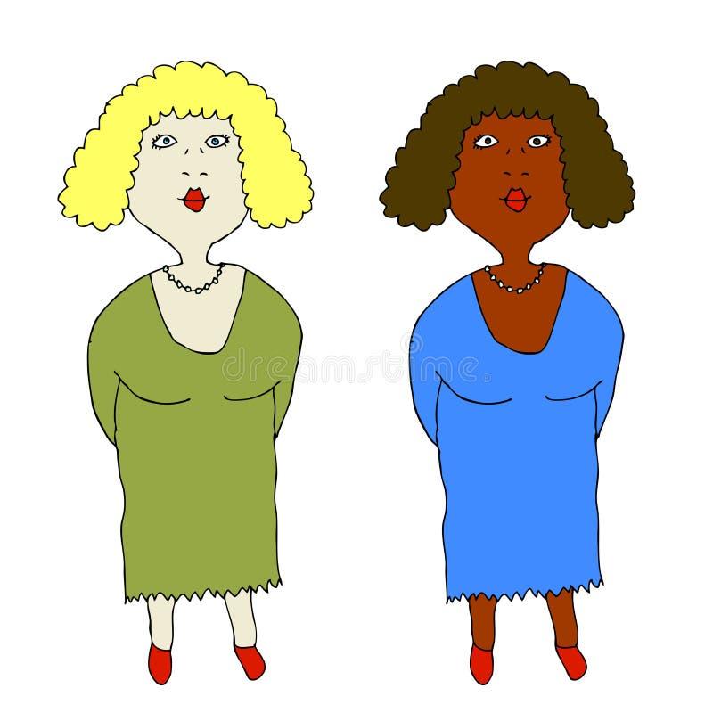 Deux femmes illustration stock