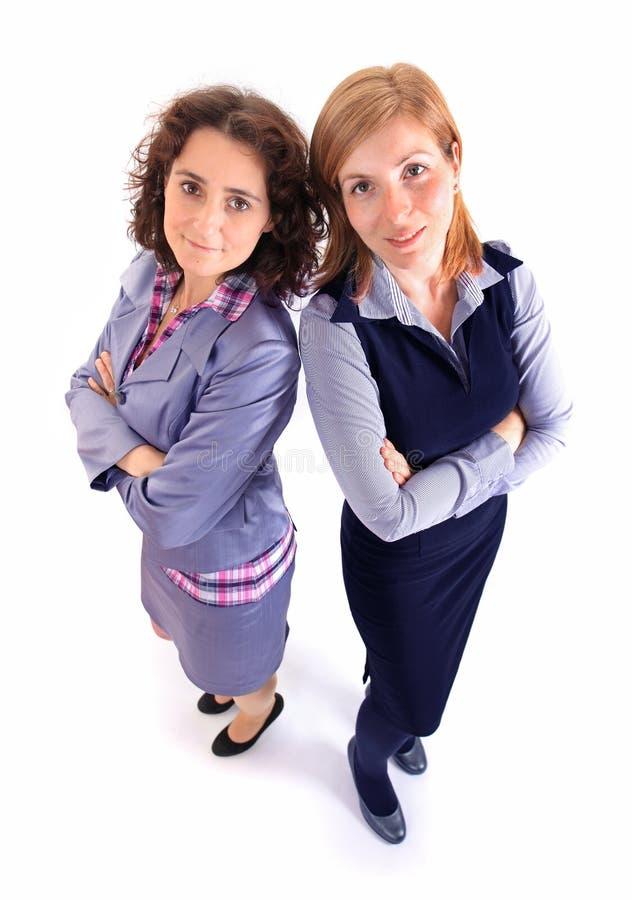 Deux femmes d'affaires de beauté ensemble images stock