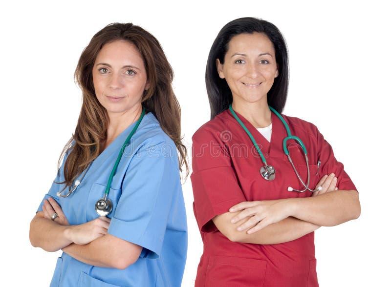 Deux femmes de docteur images stock