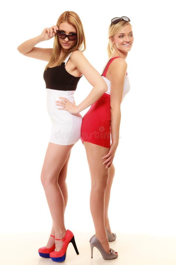 Download Deux Femmes Folles Sexy En été Vêtx Des Lunettes De Soleil Photo stock - Image du talons, sunglasses: 45361486