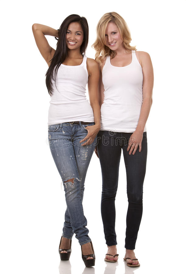 Deux femmes occasionnelles image libre de droits